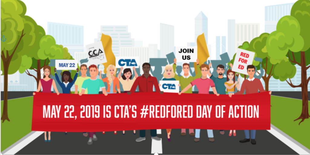 May 22, 2019 is CTA's #RedforEd Day of Action