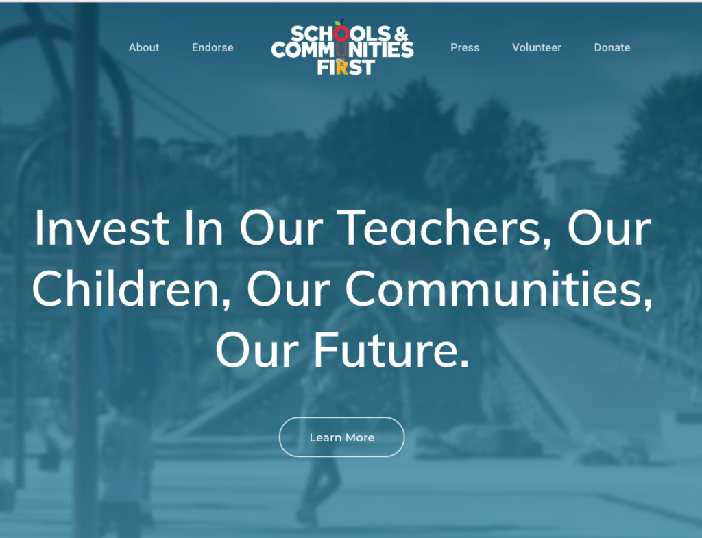 Schools & Communities First: Invest in our Teachers, Our Children, Our Communities, Our Future.